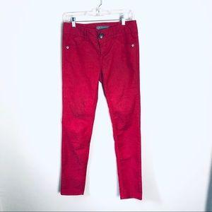 Wit & Wisdom Red Lightweight Denim Pants Sz 4